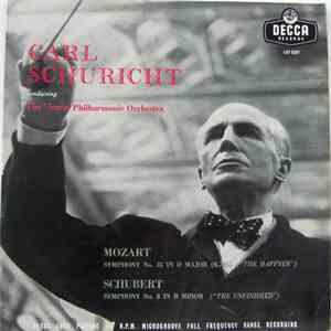 "Mozart, Schubert, Carl Schuricht, Vienna Philharmonic Orchestra - Symphony No.35 In D Major, K.385 ""Haffner/Symphony No.8 In B Minor, D.759 Unfinished album FLAC"