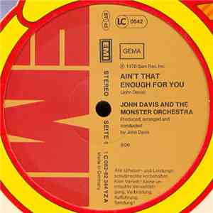 John Davis And The Monster Orchestra - Ain't That Enough For You album FLAC